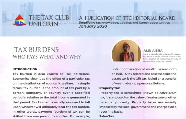 TAX BURDEN: WHO PAYS WHAT AND WHY?